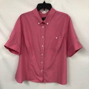 Talbots pink blouse 2X petite